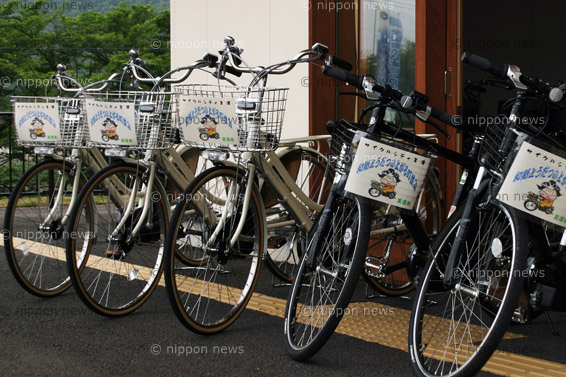 Yamaha PAS bicycles leased to Mino city