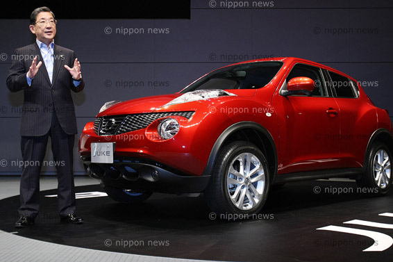 nissan juke launch nippon news editorial photos production services japan. Black Bedroom Furniture Sets. Home Design Ideas