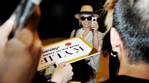 Kylie Minogue Arrives in Tokyo