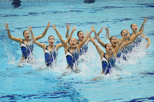 Japan's National Synchronized Swimming Team