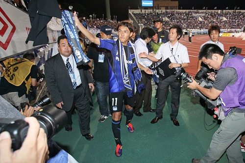 Takashi Usami says goodbye to Gamba
