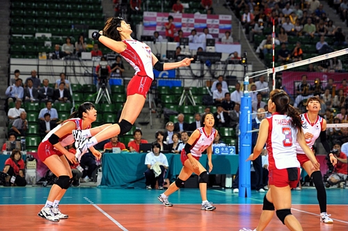 2011 FIVB World Grand Prix Pool: Japan 3-0 Korea