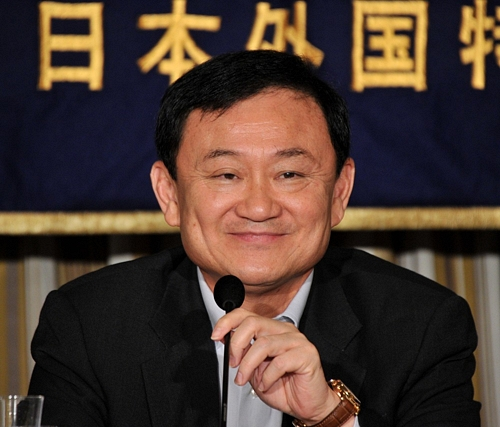 Former Thai Prime Minister Thaksin Shinawatra in Tokyo