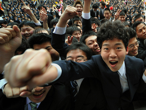 Job Seekers Rally for Future Japanese Graduates