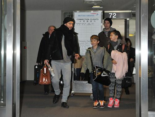 Jude Law Arrives in Japan