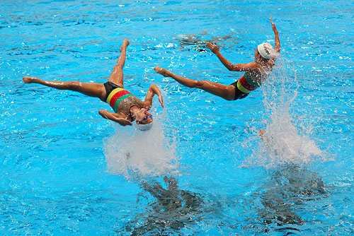 Japan's National Synchronised Swimming Team