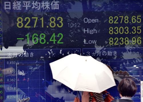 Stocks at Low for Year and Yen High