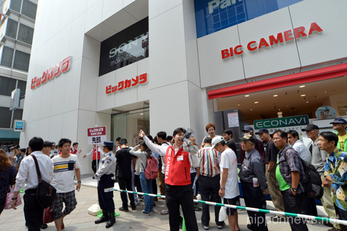 Grand opening of Bic Camera largest store in Shinjuku