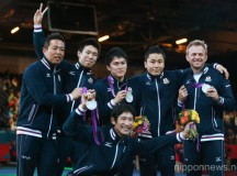 2012 Olympic Games – Fencing – Men's Team Foil medal ceremony