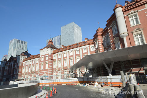 The Renovated Tokyo Station Hotel Near Completion