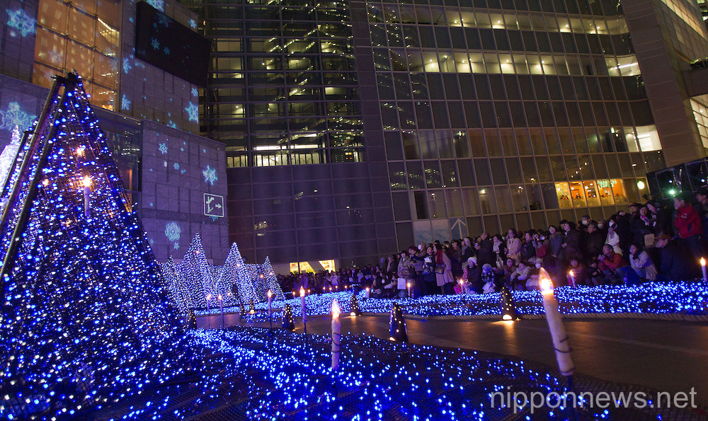 Christmas Illumination Display in Tokyo