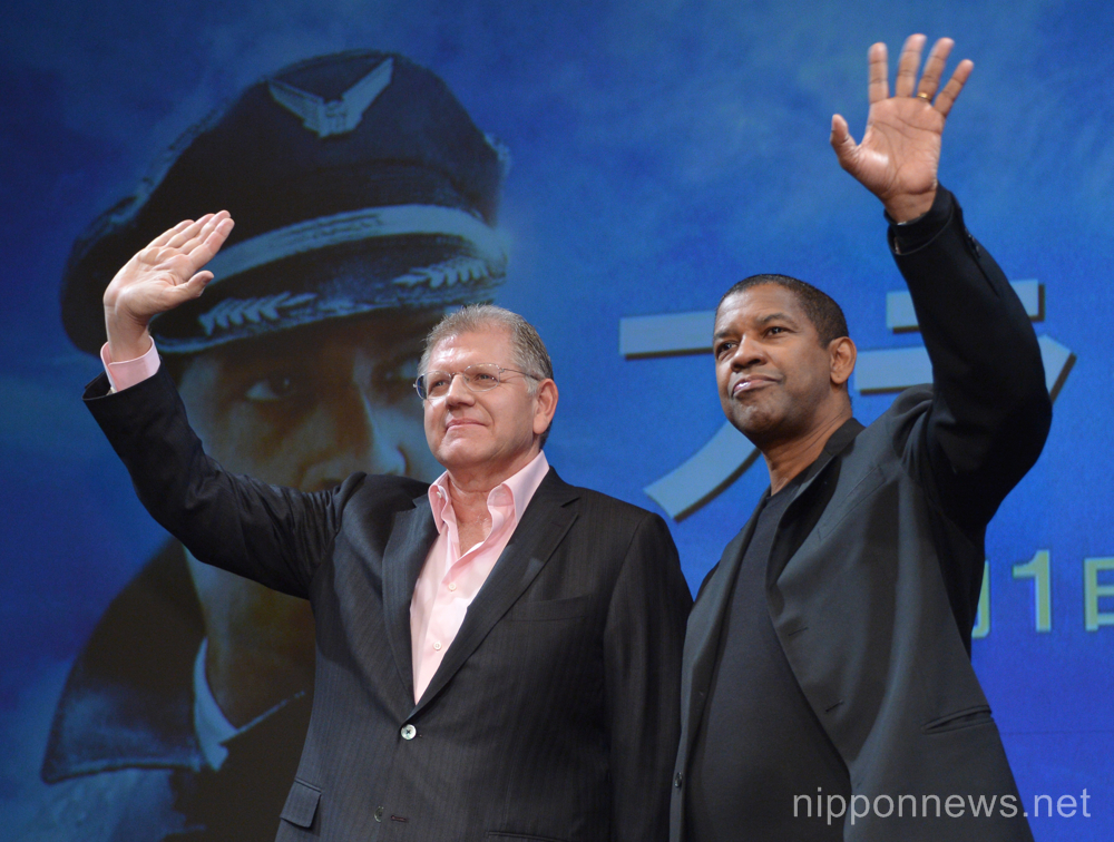 "Denzel Washington in Japan promoting ""Flight"" movie"