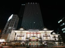New Kabukiza Theater Illuminated
