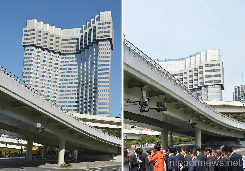 The Grand Prince Hotel Akasaka demolition works continue