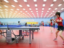 Japan National Team Training Session for World Table Tennis Championships 2013