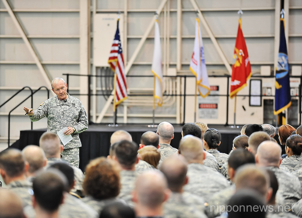 U.S. Joint Chiefs of Staff chairman General Dempsey visits Yokota Air Base