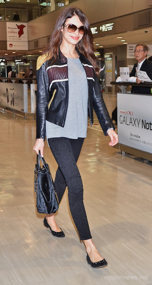 Olga Kurylenko arrives in Japan