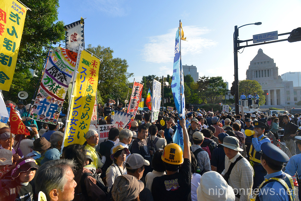 No Nukes Protest in Downtown Tokyo