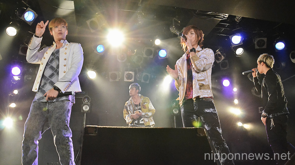 Korean Hip hop quartet MIB showcase in Tokyo