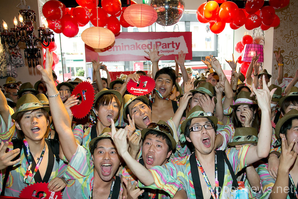"Desigual ""Seminaked Party"" Grand Opening in Tokyo"