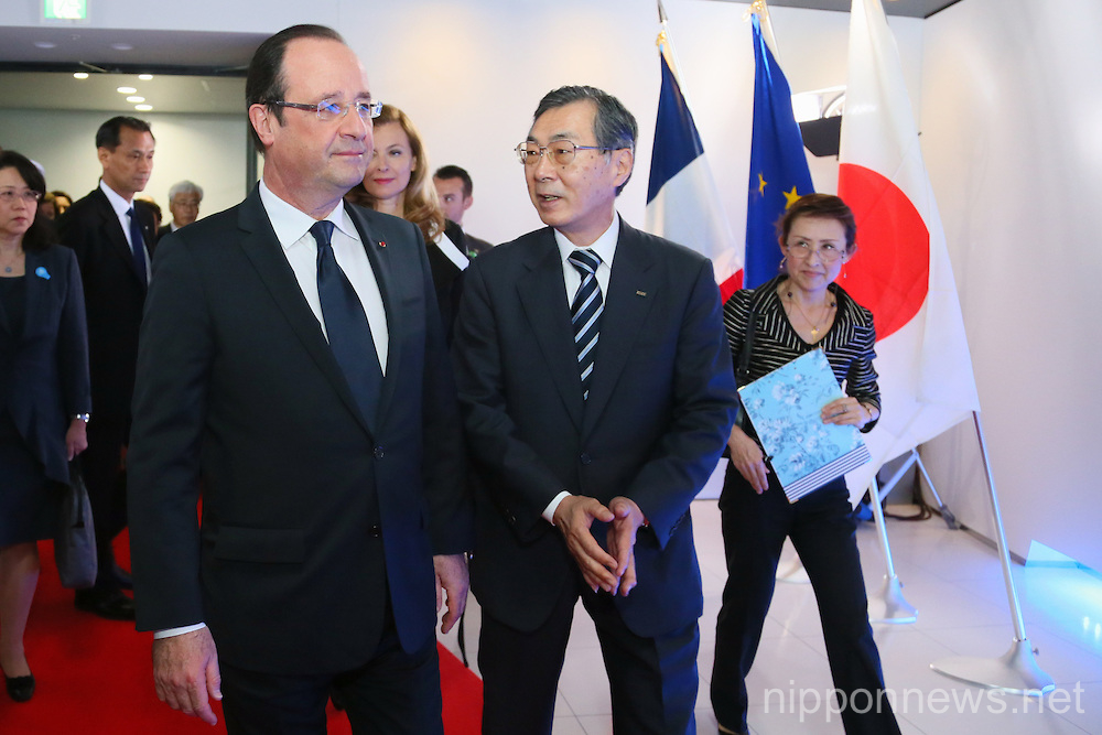 "France's President Francois Hollande attends to ""Innovons ensemble"" at Shibuya Hikarie in Tokyo"