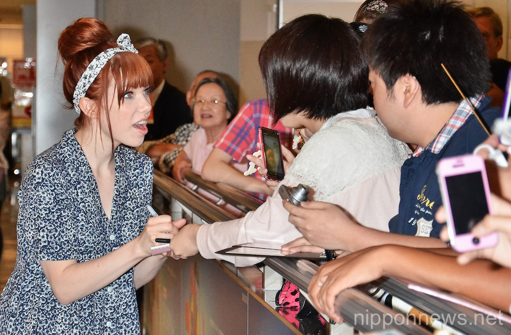Singer Carly Rae Jepsen arrives in Japan