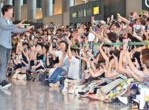 Benedict Cumberbatch Arrives in Japan