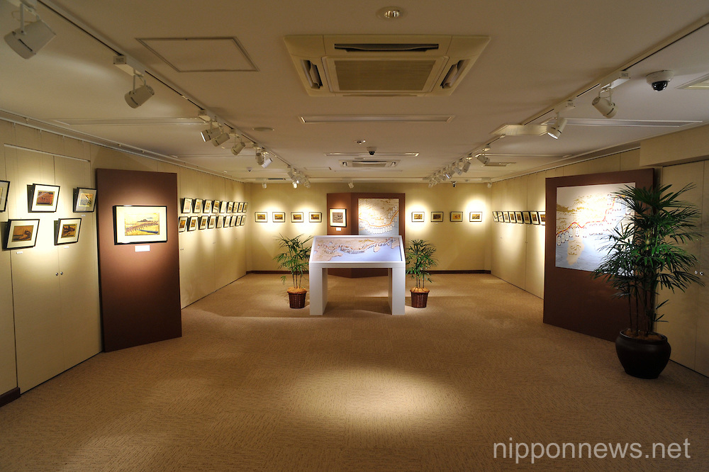 ginza tanaka jewelry store displays gold model of mount
