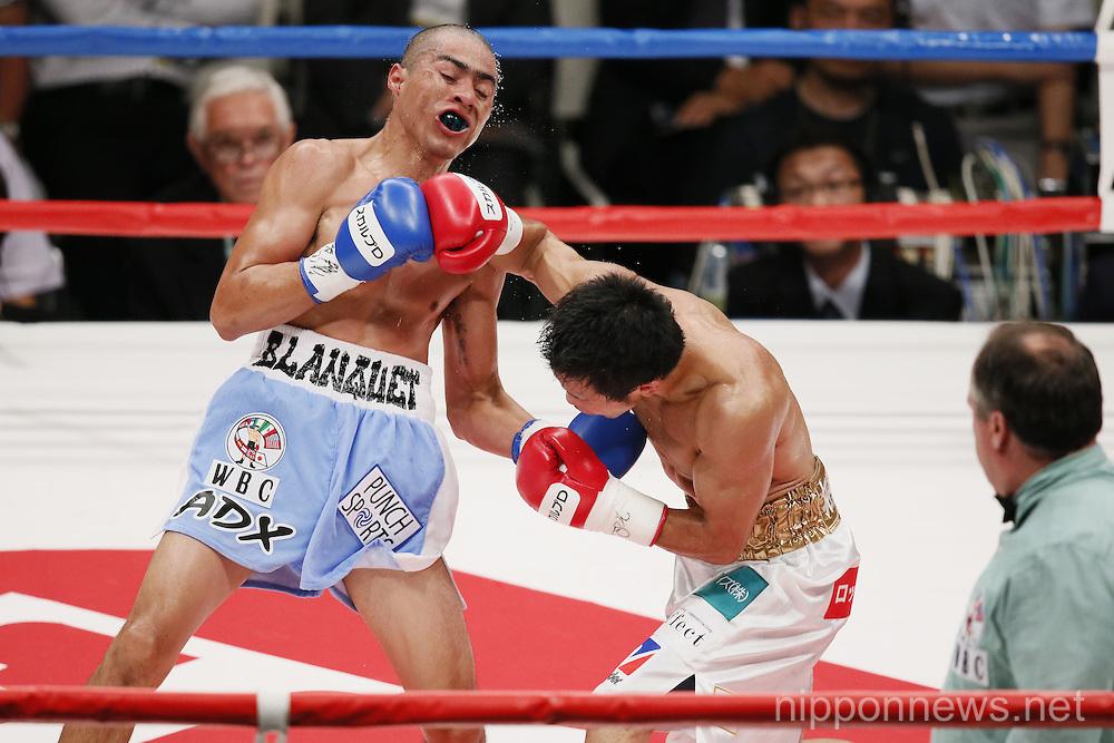 Boxing: WBC Fly Weight Title Bout - Akira Yaegashi vs Oscar Blanquet