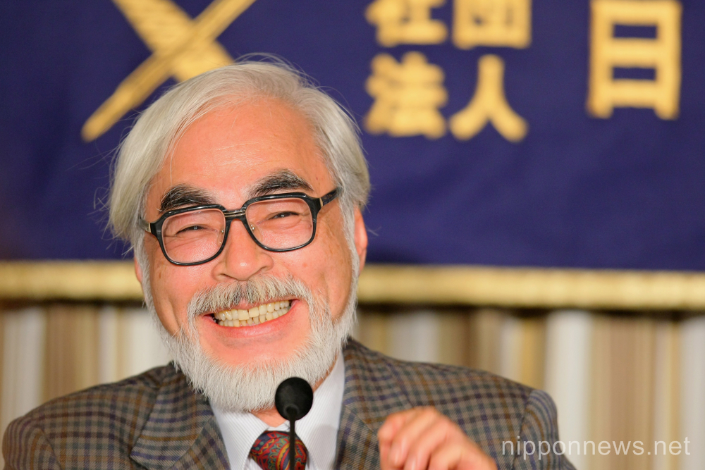 "Hayao Miyazaki retires! ""Kaze-tachinu"" will be his last movie."