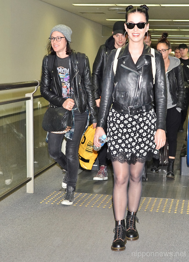 Katy Perry arrives in Japan