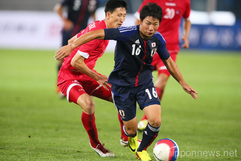 Football/Soccer: Tianjin 2013 the 6th East Asian Games - Japan 1-2 North Korea