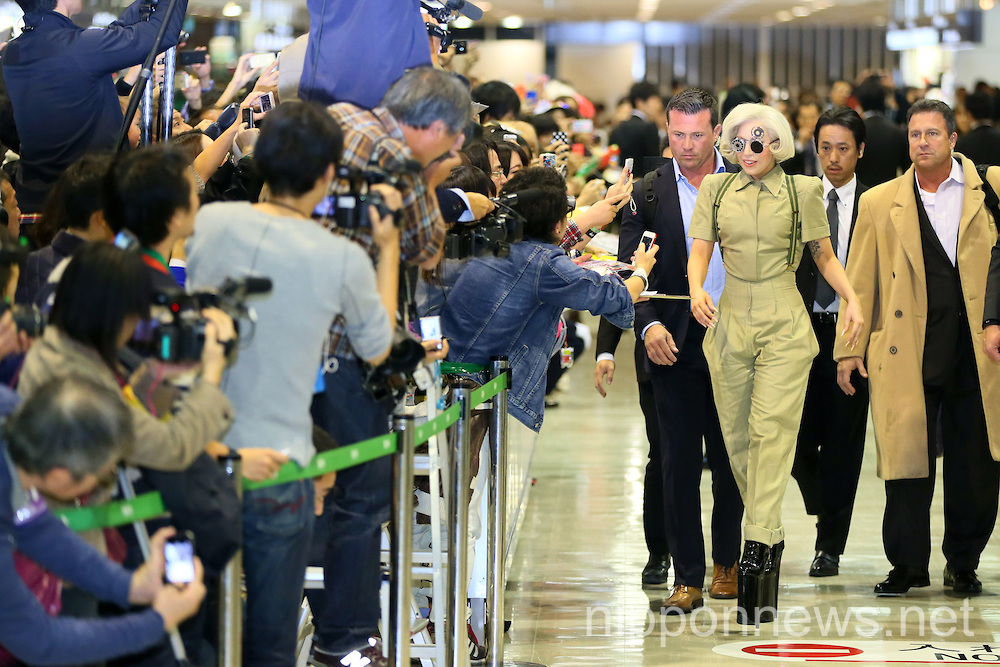 Lady Gaga Arrives in Japan to Promote Artpop