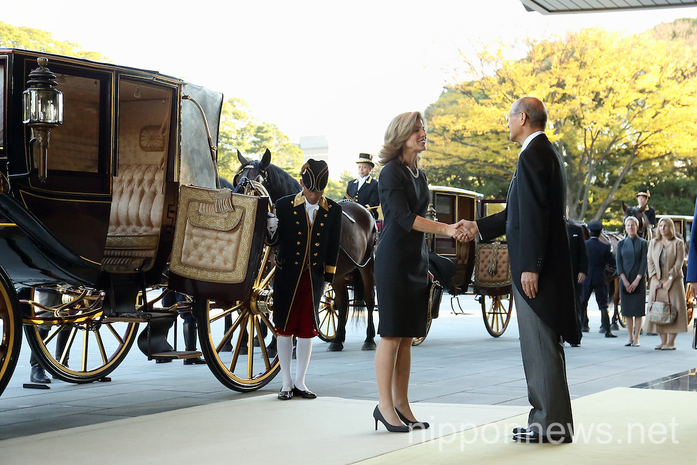 Caroline Kennedy at the Imperial Palace in Tokyo