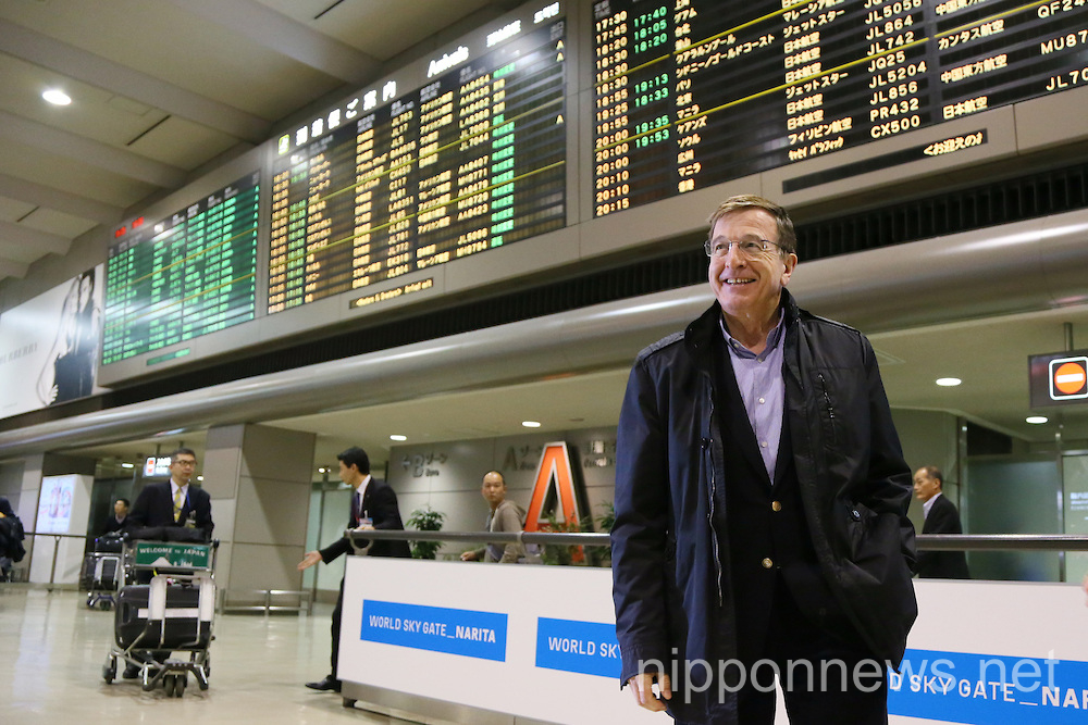 IOC Executive Director Gilbert Felli arrives in Japan
