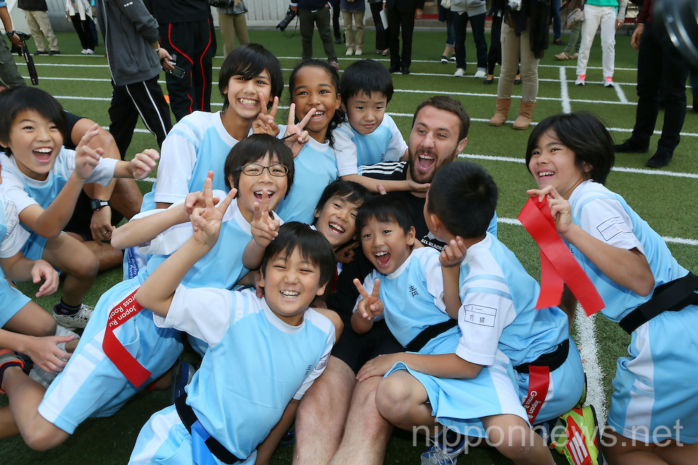 Rugby: All Blacks visit Aoyama elementary school in Tokyo
