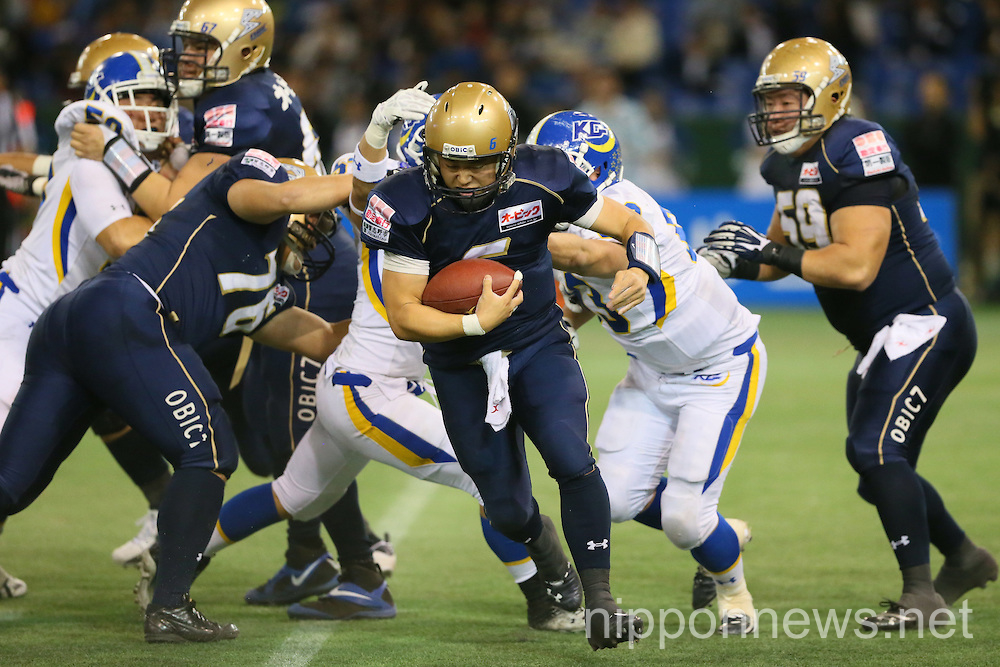 "American Football Japan ""Rice Bowl"" Championship: Obic Seagulls 34-16 Kansei Gakuin University Fighters"