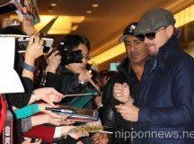 Leonardo DiCaprio Arrives in Japan to Promote The Wolf of Wall Street