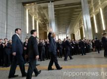 Yoichi Masuzoe First Work Day as Tokyo Governor