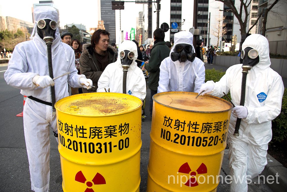 No Nukes Day Protest in Downtown Tokyo