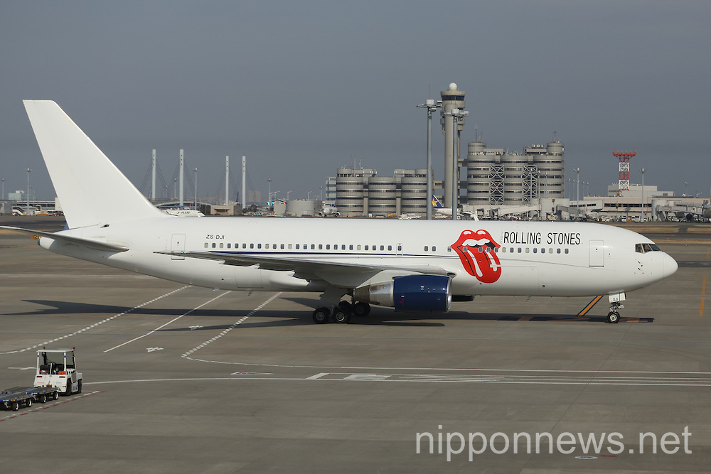 The Rolling Stones arrive in Japan