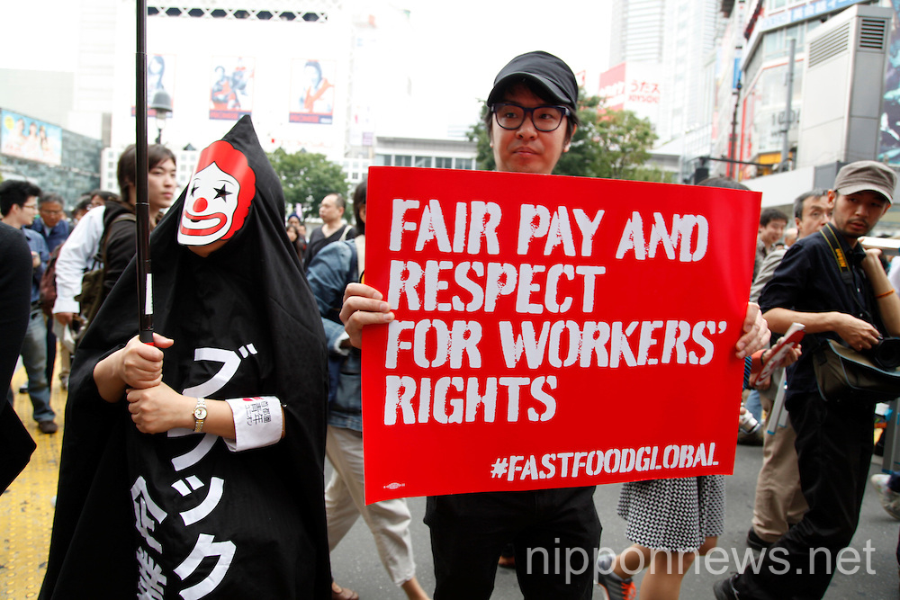 Fast Food Workers Protest | Nippon News | Editorial Photos ...