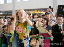 Elle Fanning Arrives in Japan