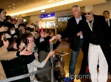Johnny Depp and Amber Heard Arrive at Haneda Airport in Japan