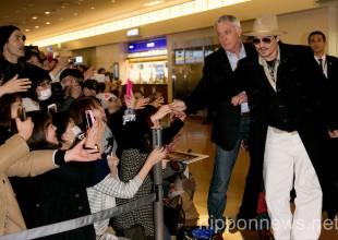 Johnny Depp and Amber Heard Arrive at Haneda Airport in Japan