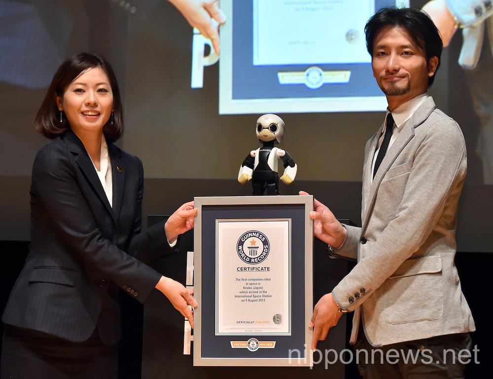 Astronaut Robot Kirobo Receives Guiness World Records