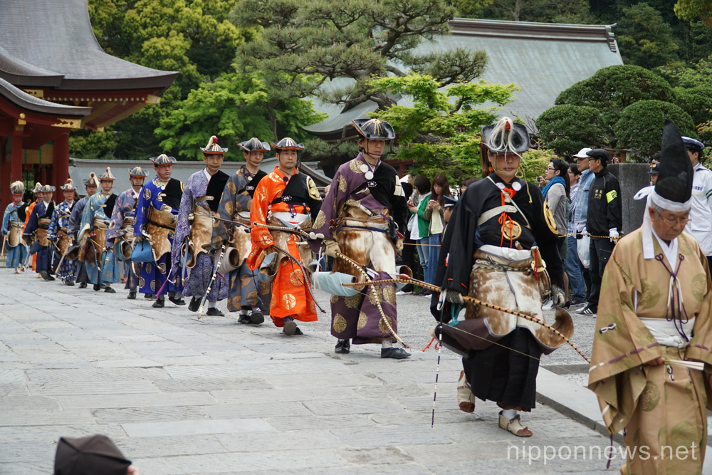 Yabusame Shinto Ritual at Tsurugaoka Hachimangu Shrine ...