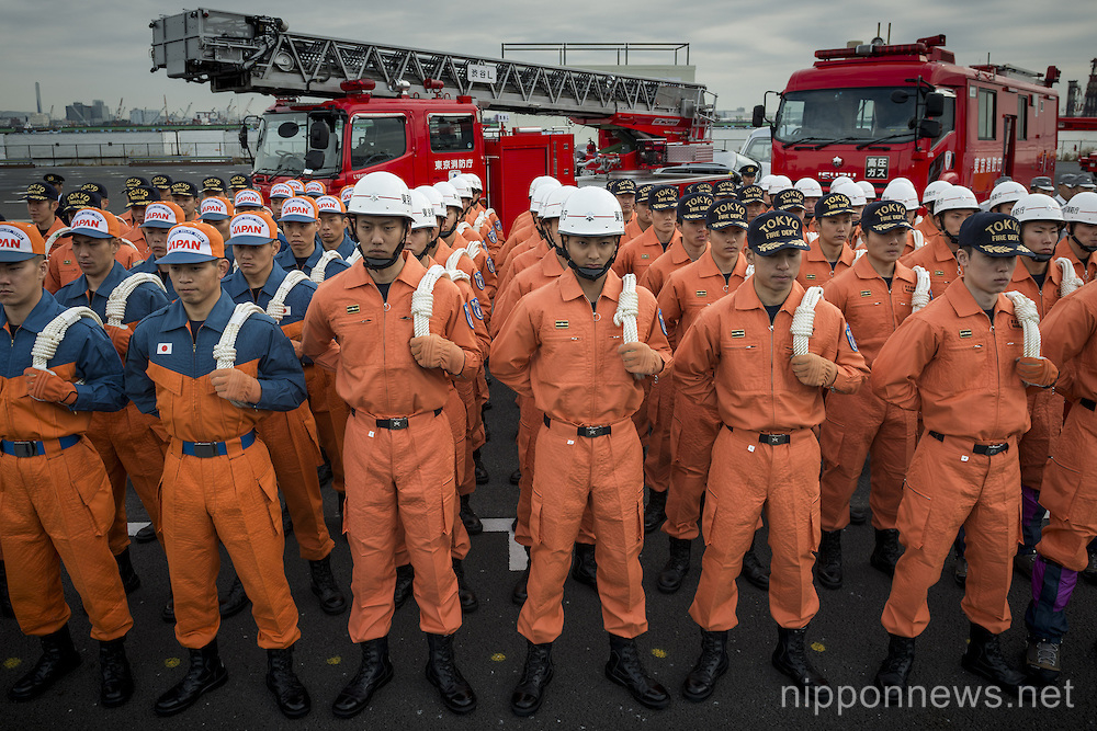 Tokyo annual fire fighting drill