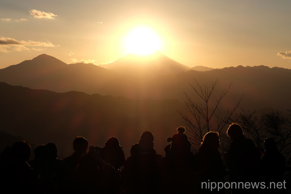 Diamond Fuji from Mount Takao