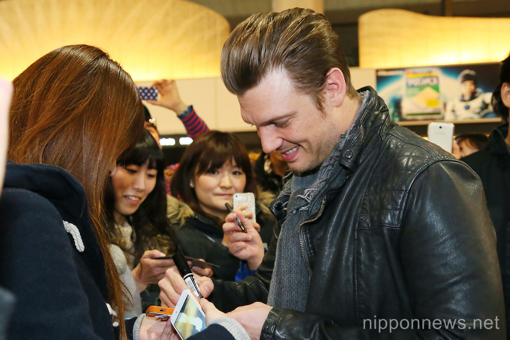 Nick Carter arrives at Narita Airport, Japan